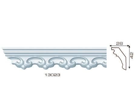 Плинтус потолочный 1,3м Инжекционный Лагом 13023, для натяжного потолка Фотография_0
