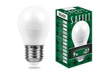 Лампа светодиодная SAFFIT LED 9 Вт, цоколь Е27, 4000 К, свет белый, матовый шар