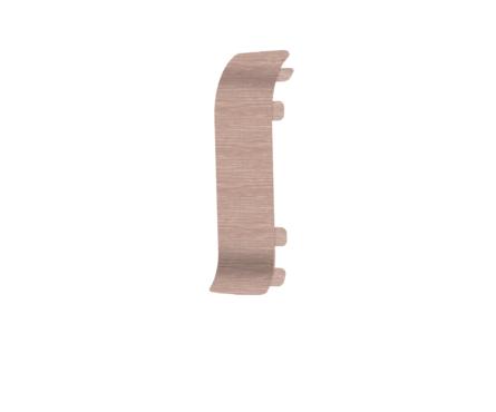 Угол для плинтуса Е67 Идеал Элит Дуб снежный / 215 соединительный