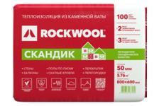 Утеплитель Минвата ROCKWOOL Скандик Лайт Баттс 800х600х50 мм (уп/5.76 м²/ 0.288 м³)