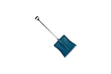 Лопата снеговая 428*490 мм пластмассовая, с алюм/ черенком и v-образной ручкой