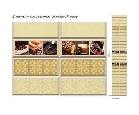 ПВХ Панель UNIQUE 3D 2700*250*8мм Кофейные традиции Декор из 2шт. (0,675 кв. м, в уп. 12 шт.)