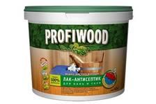 Лак-антисептик бесцвет PROFIWOOD для бань и саун 2,5 кг