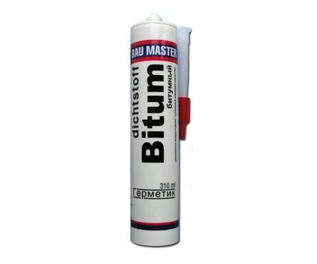 Клей BAU MASTER монтажный битумный черный 310 мл Фотография_0