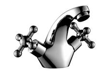 Смеситель для умывальника ROSSINKA G02-61 Тюльпан 1/2, керамическая кран-букса