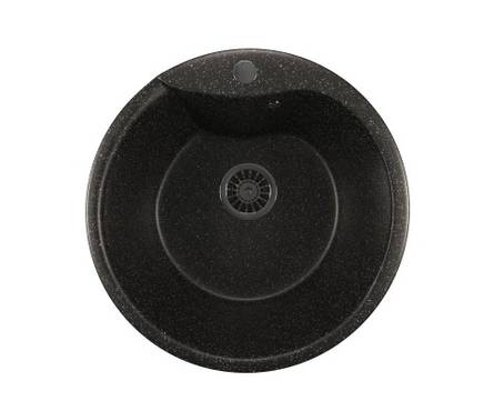 Мойка ML - GM12 круглая,  черная, 485 мм