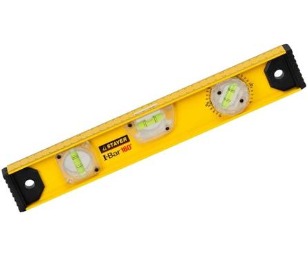 Уровень STAYER PROFI Level 40 см, усиленный, фрезерованный, 3 противоударные ампулы Фотография_0
