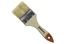 Кисть Вихрь Стандарт 75 мм, плоская натуральная щетина, деревянная ручка