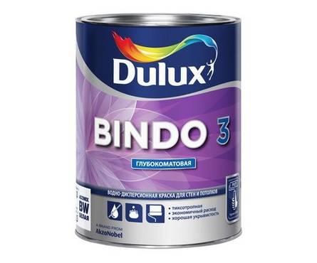 Краска ВД Dulux BINDO 3BW для стен и потолков 1 л
