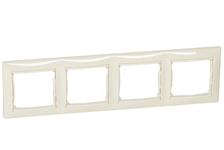 Рамка Legrand VALENA 4 поста, горизонтальная, слоновая кость
