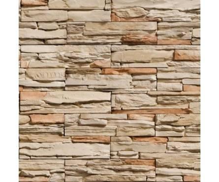 ПВХ Панель NOVITA 3D 2700*300*8мм Камень Онтарио Оранжевый Декор из 2 шт.