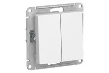 Выключатель ATLAS белый 2-кл 10А\250В (Schneider Electric)