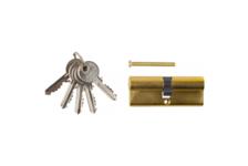 Механизм цилиндровый ЗУБР МАСТЕР 80 мм, тип ключ-ключ, 5-PIN, латунь
