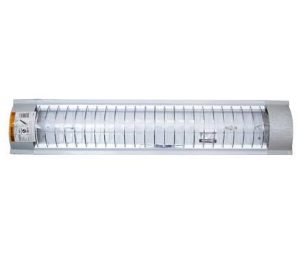 Светильник ЛПО3017 (с решёткой) 2х18 Вт 230В Т8/G13 TDM