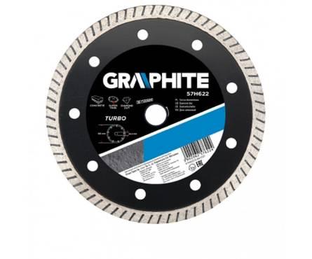 Диск алмазный 230х22,2мм turbo ультра тонкий  GRAPHITE