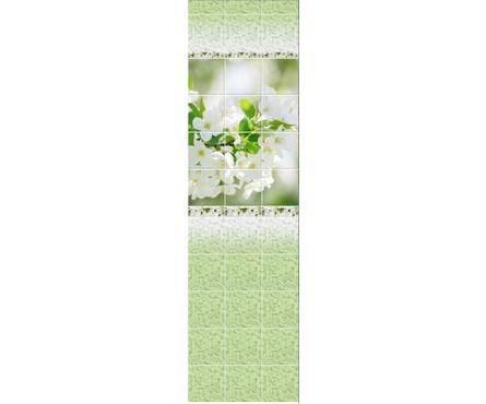 ПВХ Панель NOVITA 3D 2700*250*9мм Вишневый сад ДЕКОР из 3 шт.