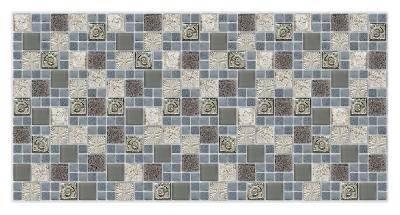 Панель ПВХ 955х480мм Мозаика Морской бриз синий