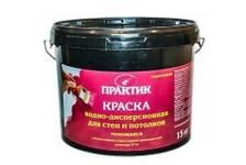 Краска ВД ПРАКТИК водно-дисперсионная для стен и потолков МОЮЩАЯСЯ 15 кг