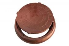 Люк полимерно-песчаный  тип Л 730/60 мм (коричневый) 1,5т
