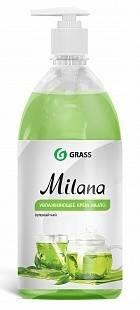Жидкое крем-мыло с дозатором Milana 1л (зеленый чай) GRASS