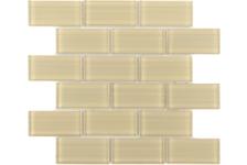 Мозаика Caramelle Mosaic Impressioni Mattoni Crema 300х300 мм, чип 50х100 мм