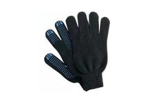 Перчатки ДомВелл х/б, 7 класс вязки, черные