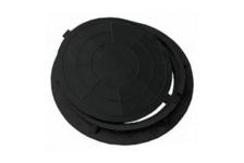 Люк полимерно-песчаный тип Л 730/60 мм (черный) 1,5т