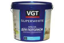 Краска ВД VGT для потолков супербелая 7 кг