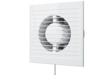 Вентилятор D125 осевой с антимоскитной сеткой, с обратнным клапаном и тяговым выключателем