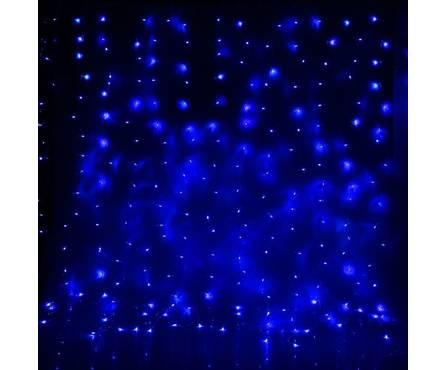 Гирлянда комнатная Luazon Lighting Занавес 2 x 1.5 м синяя, УМС вилка, 8 режимов, 360 ламп, контроллер Фотография_0