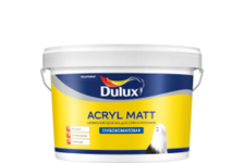 Краска ВД Dulux ACRYL MATT BW для стен и потолков 9 л