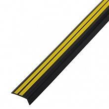 Профиль угловой антискользящ самокл 0,91 м чёрн/жёлтый (42*15 мм) Salag Фотография_0