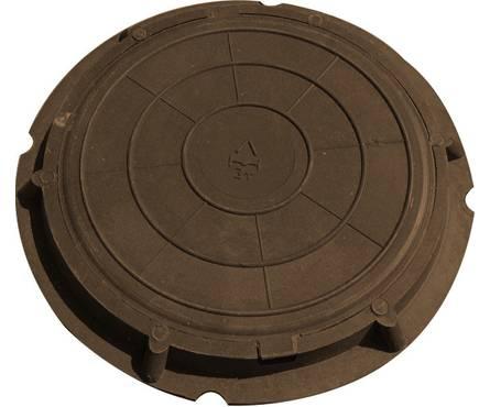 Люк легкий садовый 730/60 (А-30/3тн) коричневый