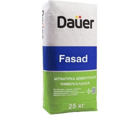 Штукатурка DAUER Fasad цементная, универсальная, 25 кг Фотография_0