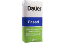 Штукатурка DAUER Fasad цементная, универсальная, 25 кг