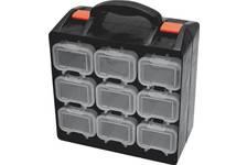 Ящик для крепежа двухсекц..съемн.ячейки. 34х28,5х14,5 см
