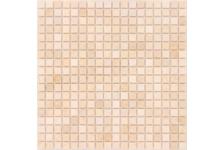 Мозаика Caramelle Mosaic Pietrine Botticino матовая, 305х305х4 мм, чип 15*15 мм