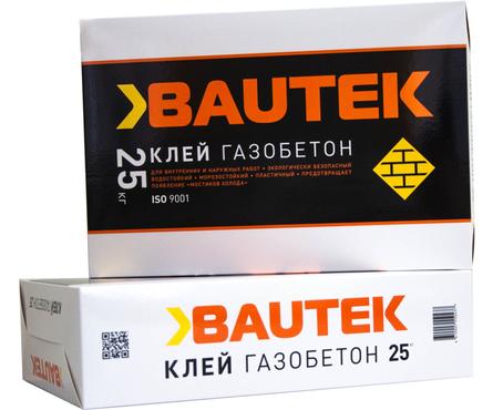 Клей BAUTEK газобетон 25 кг Фотография_0