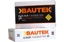 Клей BAUTEK газобетон 25 кг