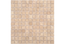 Мозаика Caramelle Mosaic Pietrine Emperador Light матовая, 298х298х4 мм, чип 23х23 мм