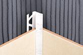 Раскладка для керамической плитки 10х2500мм белый внутренний