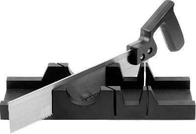 Стусло DEXX пластмассовое + пила, для заготовок до 65х35мм, ножовка 300мм Фотография_0