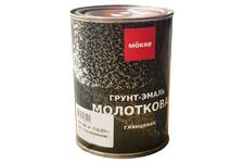 Грунт-эмаль Mokke молотковая, серебристая (0.8 кг)