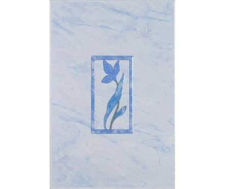 Керамическая плитка Шахтинская плитка Венера голубая 1 декор 200х300 Фотография_0