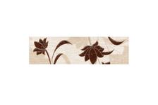 Бордюр Terracotta.Pro Laura Flowers 57х200 мм, коричневый
