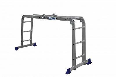 Лестница-трансформер алюминиевая 4*3 ст., серия Стандарт (высота 354/177/94см, вес 10,8кг)