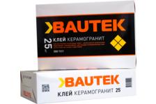 Клей для плитки BAUTEK Керамогранит 25 кг