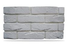 Гипсовая плитка Кирпич под клинкер 500-00 белый, 6.5х24 см