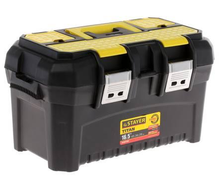 Ящик для инструмента STAYER MASTER пластиковый, 490х290х270мм (19) Фотография_0