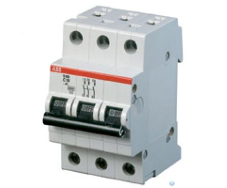 Выключатель автомат. ABB C 16A SH201L-4.5 3-полюсн. Фотография_0